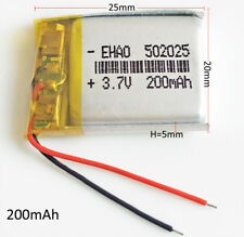 3.7V 200mAh Lipo rechargeable Battery 502025 For MP3 MID headphone bluetooth GPS