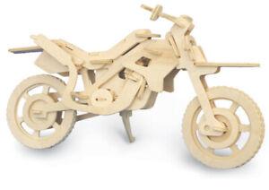 Cross Country Motorbike     QUAY Woodcraft Construction Kit FSC