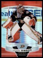 2019-20 OPC Platinum Red Prism #60 John Gibson /199 - Anaheim Ducks