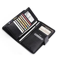 Mens Leather Travel Wallet Passport Holder Document Organiser Ticket ID Case NEW