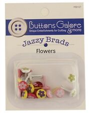 * Flowers Jazzy Brads * 4 Colors * Reduced