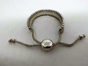 Genuine LINKS of LONDON sterling silver Friendship Bracelet white/silver stamped