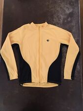 Pearl Izumi Full Zip Long Sleeve Bicycling Shirt Yellow Large