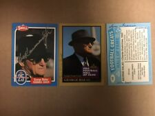 Sam Francis 1937-8 Chicago Bears/Pittsburgh Signed Swell George Halas  Card