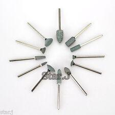 12pcs Dental Gravel Ceramic Coarse Green FG Burs Polisher Drill 2.35mm Shank