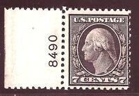 US Stamp #507 ~ MNH OG ~ Plate Number Single [PNS] ~ Always Free Shipping!!!