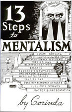 THIRTEEN 13 STEPS TO MENTALISM magic book by Corinda mental Classic mind reading