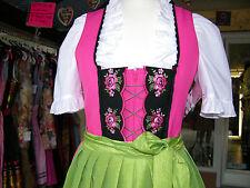 Minidirndl, Pink neon, grün, Gr. 34, Rose Dirndl, reduziert!