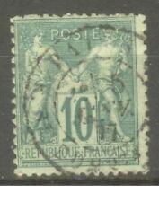 "FRANCE STAMP TIMBRE N° 76 "" SAGE 10c VERT TYPE II "" OBLITERE TB"