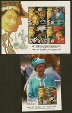 TUVALU :2002 Golden Jubilee  sheetlet+MS SG1048-51+MS1052 unmounted mint