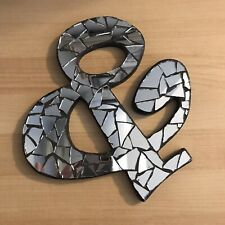 Ampersand Wooden Mosaic Wall Hanging Mirrors Home Decor Picture