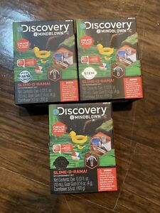 Slime Kit Lot Of 3 NEW Discovery Kids Mindblown DIY Experiment Set