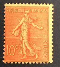 France N° 129 10 C Rose Neuf ** Très Frais Cote 32€