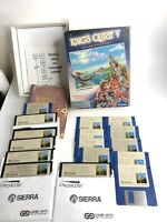 VINTAGE KING'S QUEST V SIERRA PC GAME 1990 IBM TANDY 5.25 & 3.5 DISCS