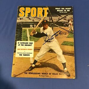 WILLIE MAYS Autographed Hand Signed June 1956 Sport Magazine