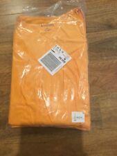 New - 100% Soft Orange Cotton Pleat Neck Tunic T-Shirt - Plus Size 4X