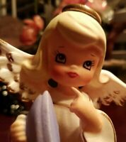 NAPCO RARE ANGEL ironing  VINTAGE JAPAN FIGURINE Excellent Condition #LOVELY