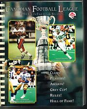 1994 CFL Canadian Football League Facts, Figures & Records GUIDE