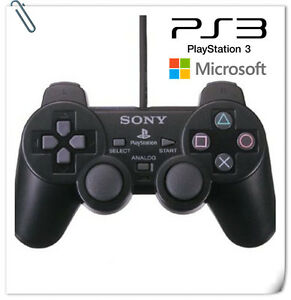 WIRED DUALSHOCK ANALOG CONTROLLER for PS3 PC WINDOWS Microsoft Sony Playstation