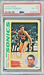 1978 Topps Dennis Johnson #78 Rookie Card RC Graded PSA 6 Celtics/Sonics HOF