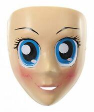 Anime Costume Mask Blue Large Eyes Japanese Face Sailor Cosplay Kigurumi Cartoon