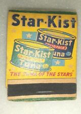 VINTAGE STAR-KIST TUNA MATCHES MATCH BOOK FULL STARKIST TUNA FISH ADVERTISING