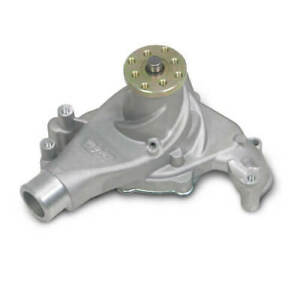 Weiand Water Pump 9240; Action+ Satin Aluminum Mechanical for Chevy 262-400 SBC