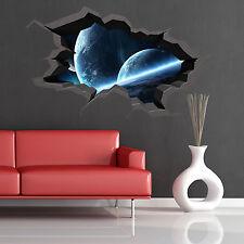 A TODO COLOR PLANETA del espacio Universo Tierra roto 3d Pegatina Pared Arte