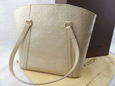 Auténtico Louis Vuitton Monogram Uñas Avalon Blanc Corail mm Bolso de mano
