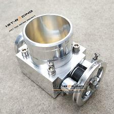 Silver 80MM 80 MM Universal Intake Manifold CNC Billet Aluminum Throttle Body