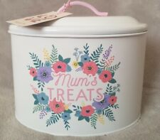 Gift for mum Floral Print Sweet Biscuit Storage Treats Tin for kitchen Mothers