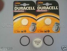 2 Duracell Battery & O Ring Kit Suunto Cobra Vytec Vyper Gekko with FREE GREASE