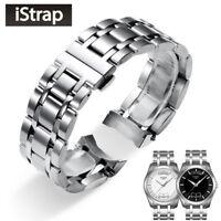 18/22/23/24mm 316L Stainless Steel  Solid Link End Watch Bracelet For Tissot
