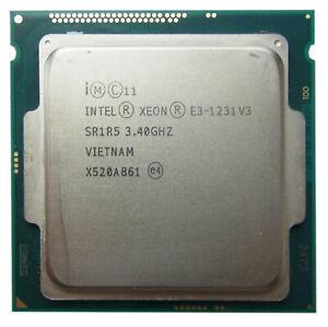 XEON Quad Core 3.4 GHZ E3-1231 v3 E3-1231V3 SR1R5 1150 Haswell + Händler +