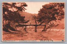 Minatogaza-old KOBE Japan—Rare Antique PC 神戸市 Dattle Field はがき Bridge 1910s