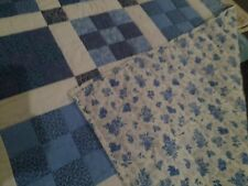 Handmade Quilt 9 Patch Blue Hand Quilted, Full/Queen, Bedroom, Traditional