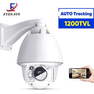 Eyes.sys Auto Tracking 30x Zoom SONY CCD 1200TVL 960H PTZ DOME IR Camera System