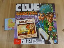 CLUE CARNIVAL Kids Game Case of the Missing Prizes 2009 Hasbro Ages 5 Up