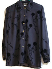 Impressions Millennium Edition Womens Gray Blouse Size Small Sheer MSRP 32.00