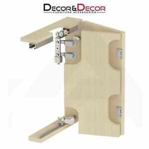 Folding Track Bifold Sliding Wardrobe Door System Gear Kit 40kg Per Door