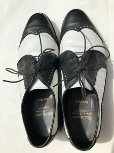 Allen Edmonds Honors Collection Wingtip Golf Shoes Black White Mens 9.5