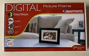 "Digital Picture Frame, Smartparts, Brand New, Still in the Box, 7"" LCD Display"