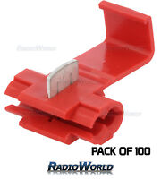 100x Red Scotch Lock Wire Connectors Quick Splice Terminals Crimp Electrical