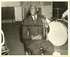Vintage 1940s Jazz Trumpeter Bunk Johnson Publicity Photo #2 Brown Bros