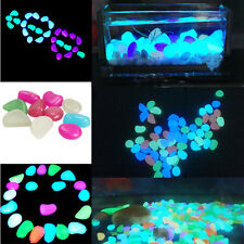 10x Glow In The Dark Pebbles Stone Home Garden Decor Walkway Aquarium Fish Tank