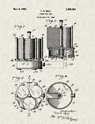 "1928 Poker Chip Set by Fred R Belt Vintage U.S. Patent  8.5"" x 11"" Art Print"