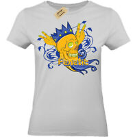 Fanatic Skull crown king wings T-Shirt Womens Ladies top