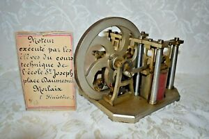 Vintage RARE Steam Engine Model Reciprocating Solenoid Motor France St Joseph