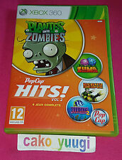 POPCAP HITS VOLUME 2 XBOX 360 4 JEUX... HEAVY WEAPON,PLANTES CONTRE ZOMBIES...