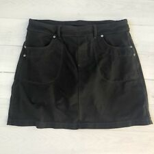 Athleta Womens Sz M Black Cotton Skort Skirt Jersey Lined